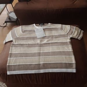 NWT SS  COTTON  SWEATER L